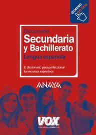 Diccionario Secundaria Y Bachillerato - Lengua Española - Aa. Vv.