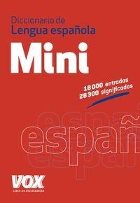 Diccionario Mini De La Lengua Española - Aa. Vv.