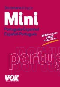 DICCIONARIO MINI PORTUGUES / ESPANHOL - ESPAÑOL / PORTUGUES