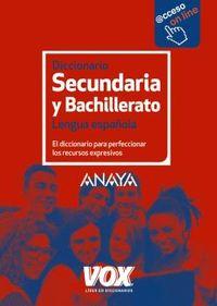 Diccionario De Secundaria Y Bachillerato - Lengua Española - Aa. Vv.
