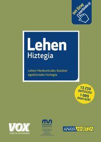 Lehen Hiztegia - Batzuk