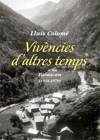 VIVENCIES D'ALTRES TEMPS