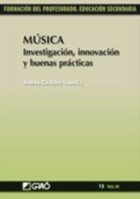 MUSICA - INVESTIGACION, INNOVACION Y BUENAS PRACTICAS