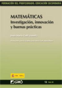 MATEMATICAS - INVESTIGACION, INNOVACION Y BUENAS PRACTICAS
