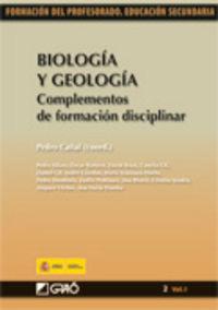 BIOLOGIA Y GEOLOGIA - COMPLEMENTOS DE FORMACION DISCIPLINAR
