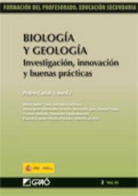 BIOLOGIA Y GEOLOGIA - INVESTIGACION, INNOVACION Y BUENAS PRACTICAS