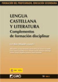 Lengua Castellana Y Literatura I - Uri Ruiz Bikandi (coord. )