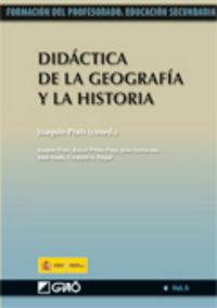 DIDACTICA DE LA GEOGRAFIA Y LA HISTORIA