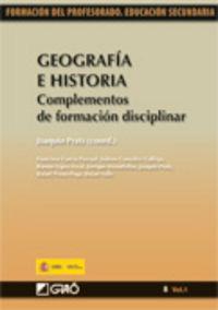 GEOGRAFIA E HISTORIA - COMPLEMENTOS DE FORMACION DISCIPLINAR