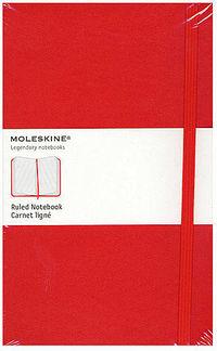Ruled Classic Red Notebook -p- Rojo Cuaderno Rayado -