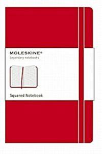 Squared Classic Red Notebook -p- Rojo Cuaderno Cuadriculado -