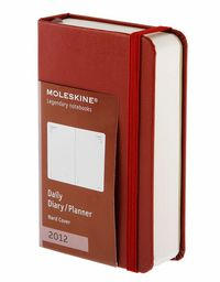 2012 Moleskine Agenda Diario D / P Pocket Roja R: 1009021 -