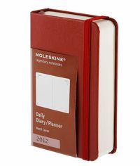 2012 Moleskine Agenda Diario D / P L Roja R: 1009022 -
