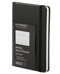 2012 Moleskine Agenda Diario Semanal Pocket Vert. Negra R: 1009025 -
