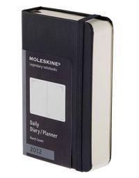2012 Moleskine Agenda Diario D / P Pocket Negro T. Blanda R: 1009019 -