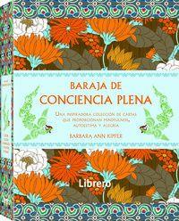 baraja de conciencia plena (caja con 52 cartas) - Barbara Ann Kipfer