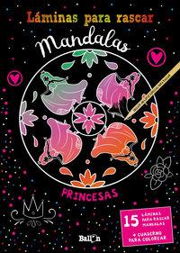 LAMINAS PARA RASCAR MANDALAS - PRINCESAS