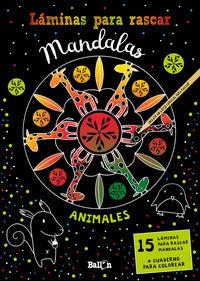 LAMINAS PARA RASCAR MANDALAS - ANIMALES