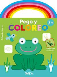 RANA - ARCO IRIS - PEGO Y COLOREO +3