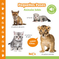 ANIMALES BEBES - PEQUEÑOS PASOS - LIBROS SONOROS