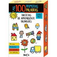 MIS 100 PRIMERAS PALABRAS - TARJETAS DE APRENDIZAJE BILINGUES ESPAÑOL / INGLES