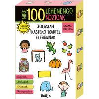 NIRE 100 LEHENENGO NOZIOAK - JOLASEAN IKASTEKO TXARTEL ELEBIDUNAK EUSKARA / INGELESA