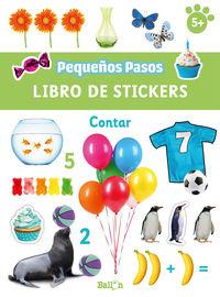 CONTAR - PEQUEÑOS PASOS - LIBROS DE STICKERS