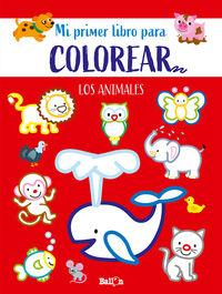 LOS ANIMALES - PRIMER LIBRO COLOREAR