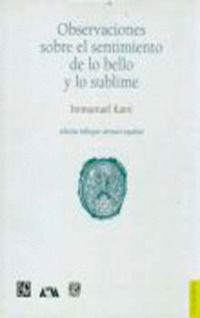Observaciones Sobre El Sentimiento De Lo Bello Y Lo Sublime - Immanuel Kant