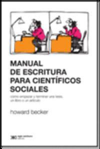 Manual De Escritura Para Cientificos Sociales - Howard Becker