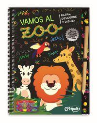 Vamos Al Zoo - Raspa, Descubre Y Dibuja - Aa. Vv.
