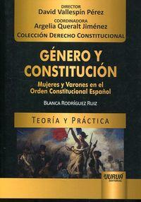 GENERO Y CONSTITUCION - MUJERES Y VARONES EN EL ORDEN CONSTITUCIONAL ESPAÑOL